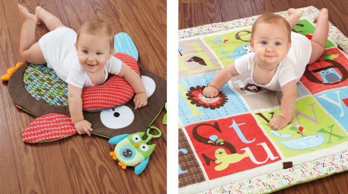 Lad dit barn ligge på maven med Skip Hop legetæpper