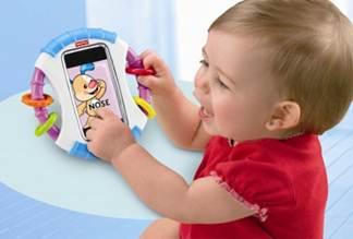 Praktisk babyrangle til iPhone