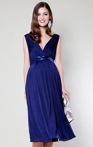 Blaa kjole kort