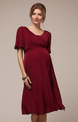 Vinroed kort kjole