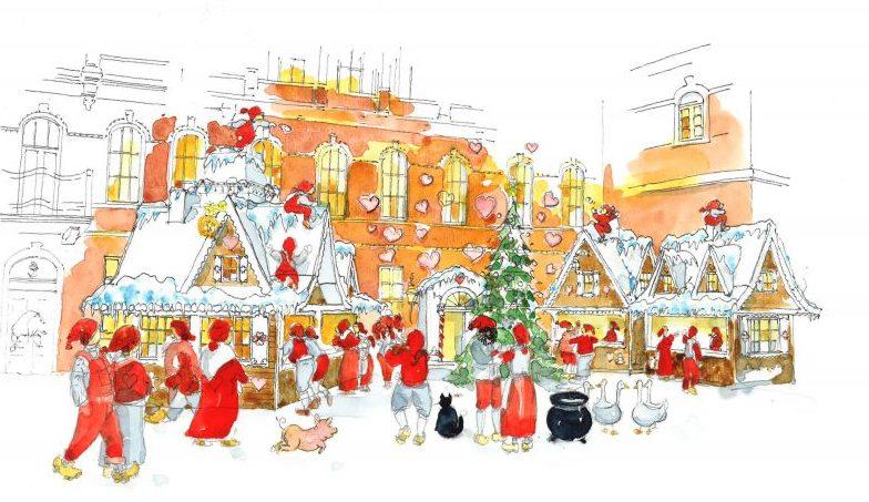 Jul i Tivoli - tegning
