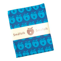 Sengetøj med blå æbler