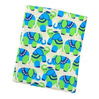 Sengetøj med grønne elefanter