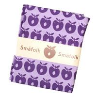 Sengetøj med lilla æbler