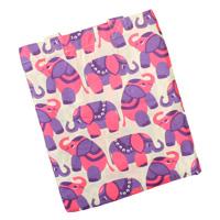 Sengetøj med lilla elefanter