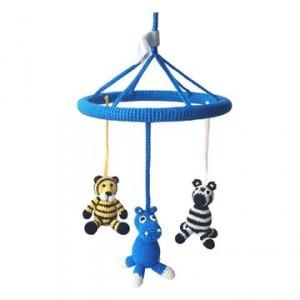 Uro til baby med zebra, tiger og flodhest